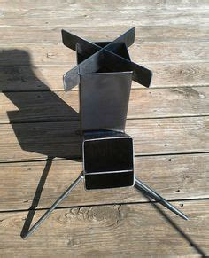 wood burning rocket stove  alimentation design par