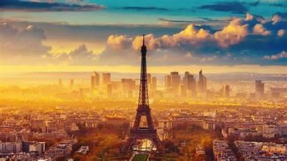Paris Cse Tower Eiffel Fog Evening Reserves