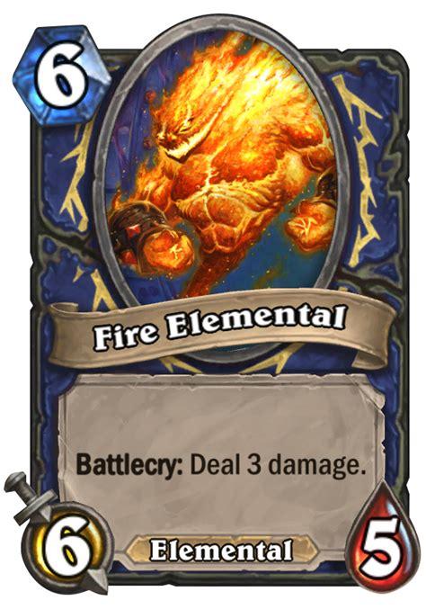 fire elemental hearthstone card