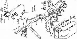 Honda Motorcycle 1978 Oem Parts Diagram For Wire Harness