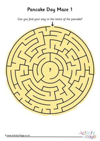 pancake day maze