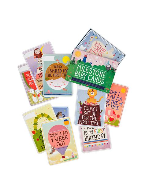 Baby milestone cards set of 36 cards baby milestones baby   etsy. Milestone Baby Cards Set, Pack of 30 at John Lewis & Partners