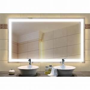 Miroir a eclairage integre 1400x600 mm achat vente for Miroir salle de bain eclairage integre