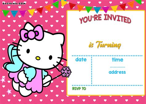 personalized  kitty birthday invitations