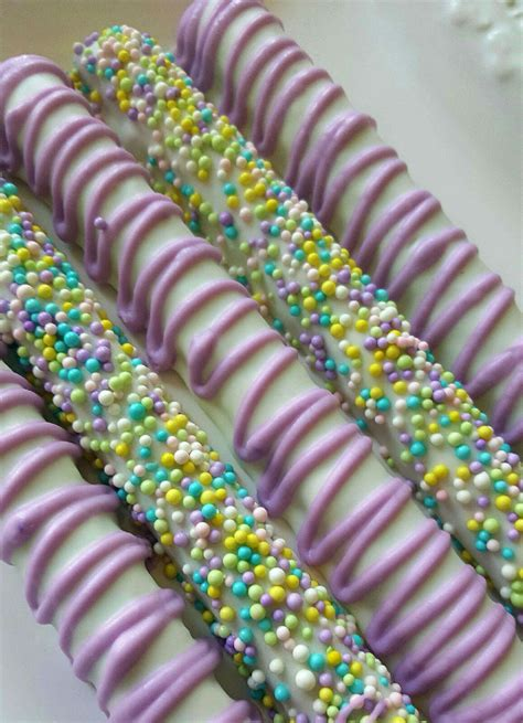 Summer Chocolate Covered Pretzels Rods