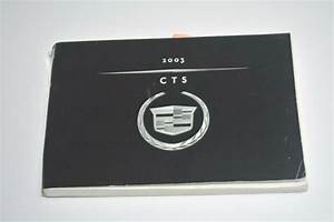 2003 Cadillac Cts Owners Manual Guide Book Oem