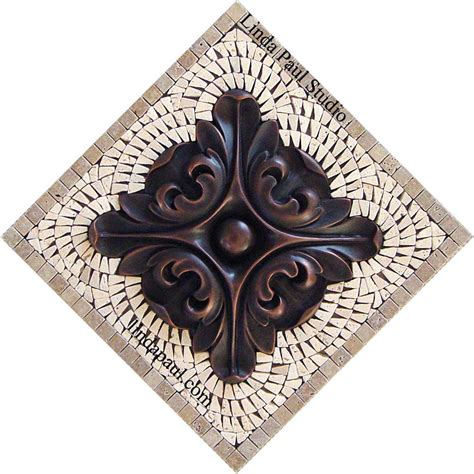 kitchen backsplash metal medallions in stock tile murals and mosaic and metal accent and