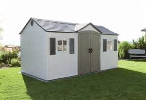 15ft x 8ft lifetime garden storage shed free tool corral
