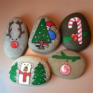 Try, These, Cute, Christmas, Rock, Painting, Ideas, For, Kids