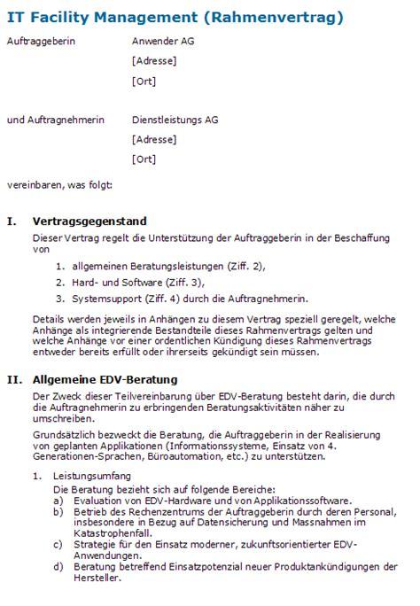 Durchführen des interim management projekts durch den interim manager: Muster Dienstleistungsvertrag Schweiz
