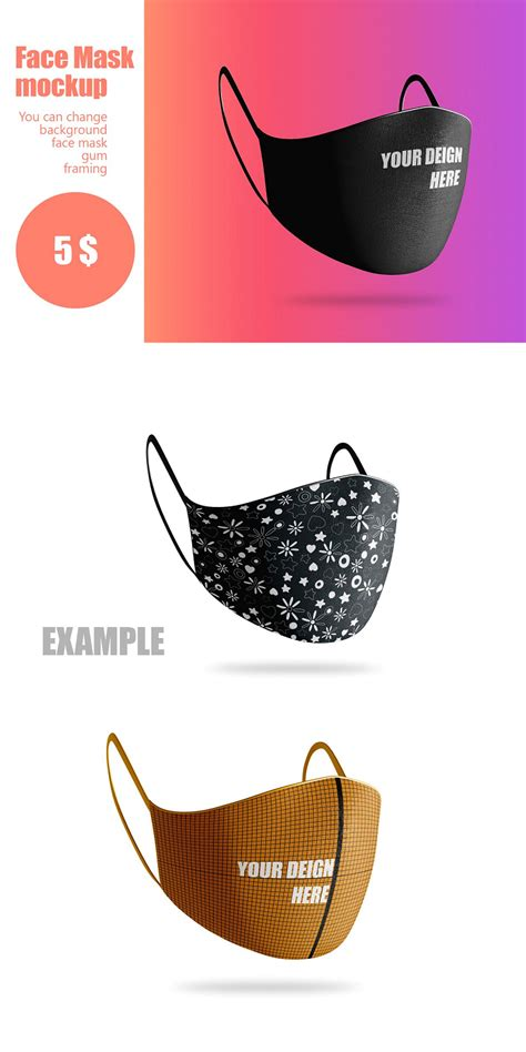 face mask mockup template   templates mockup