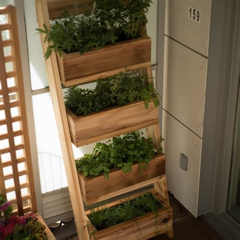 Vertical Garden Boxes by Free Vertical Garden With Removable Planters Project Plans
