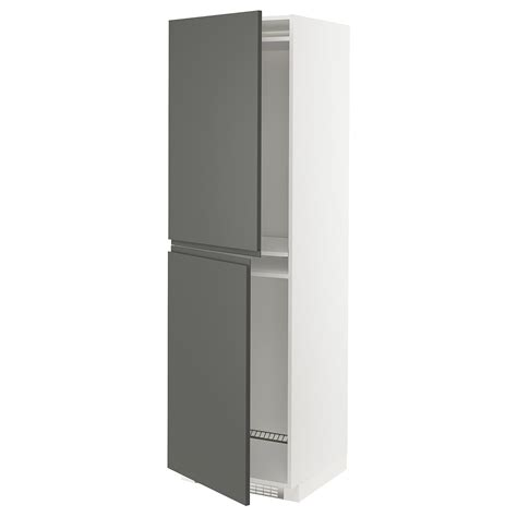 Legs and plinth are sold separately. METOD white, Voxtorp dark grey, High cabinet for fridge ...