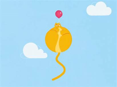 Happiness Dribbble Happy Cats Animation Vote Daydreaming