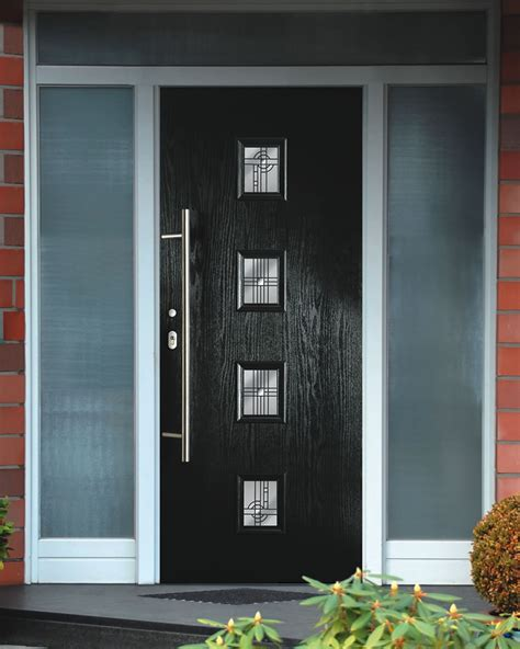 modern front doors welcoming you with greetings