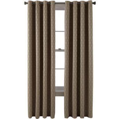 studio luna grommet top lined textured blackout curtain