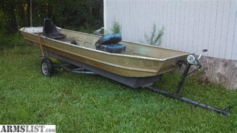 14 Foot Jon Boat Trailer by Armslist For Sale Trade 14 Foot Jon Boat And Trailer