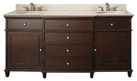 Vanities Inches And Over Walnut Finish-traditional
