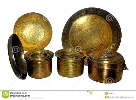 brass utensils royalty  stock photography