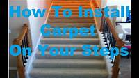 how to install carpet on stairs How To Install Carpet On Stairs New!!! 2016 - YouTube
