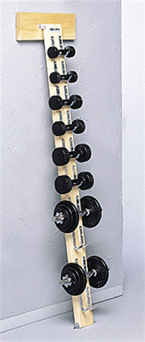 wall mounted weight rack dumbbells