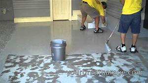 Epoxy floor installation youtube for How to install epoxy garage floor
