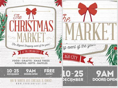 christmas twilight market flyer template free download3 rustic christmas flyer template flyerheroes