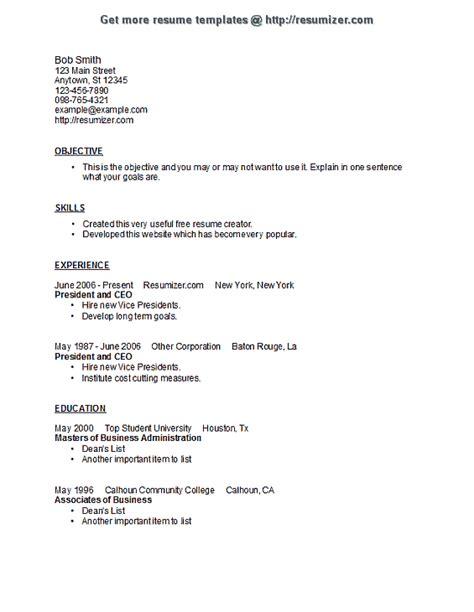 Resume Creator Template by Resumizer Resume Template Style 8 Resume Templates