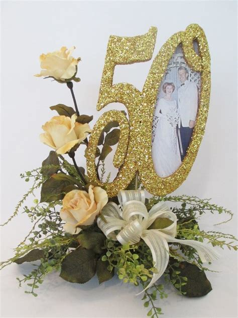 anniversary centerpieces ideas  pinterest