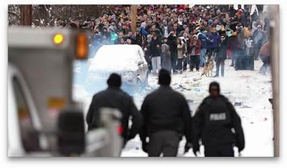 Crowd Police Riot Wvu Campus Disperse Conditions