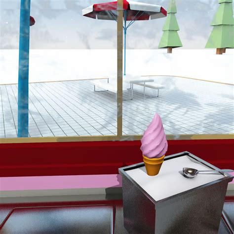 frosty ice cream stand  model