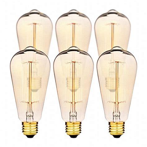 edison light bulbs by deneve deluxe 6 pack