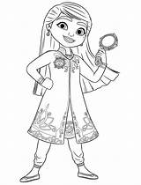 Detective Royal Mira Coloring Pages Printable sketch template