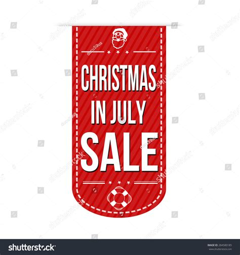 christmas in july sale banner design over a white
