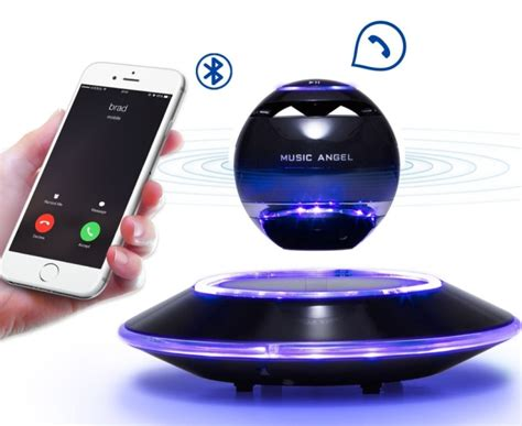 levitating bluetooth speakers  floating levitation maglev speaker  degree rotating