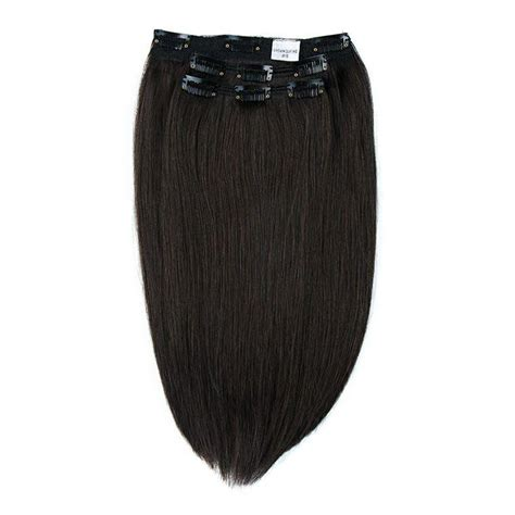 Deepest Hair by Crown Clip Ins Deepest Brown 1b Crown Hair