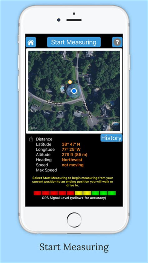 measure distance with iphone imeasurer accurately measure distance using gps appaddict