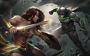 Injustice 2 Batman Wonder Woman Artwork, HD Games, 4k ...
