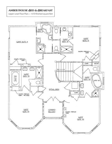 the guest house floor plans designs bed and breakfasts inns for