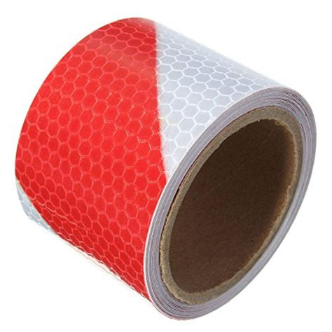 king    red white twill reflective  adhesive