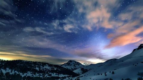 Winter Starry Sky 4k Ultra Hd Iphone Background Wallpaper