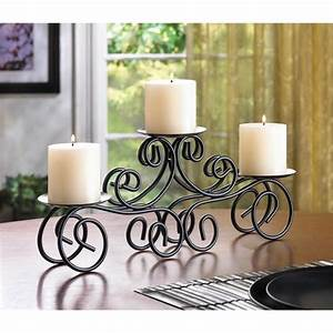 Wrought, Iron, Candle, Centerpiece, 14198
