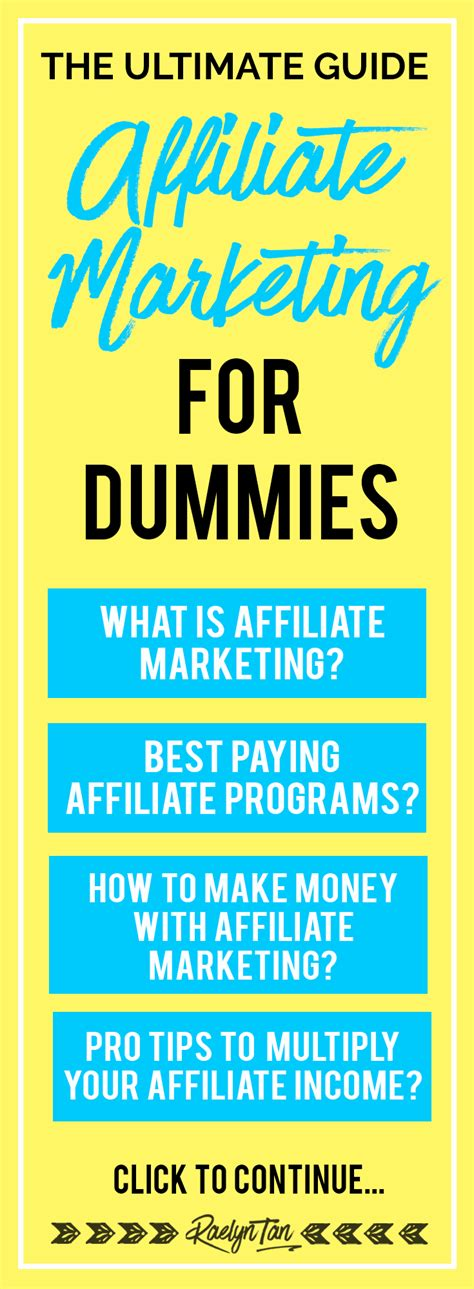 marketing for dummies the ultimate guide affiliate marketing for dummies