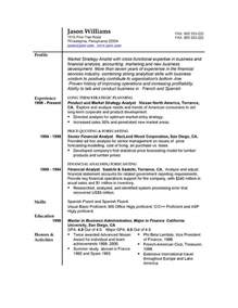 Simple Resume For Format by Sle Resume 85 Free Sle Resumes By Easyjob Sle Resume Templates Easyjob
