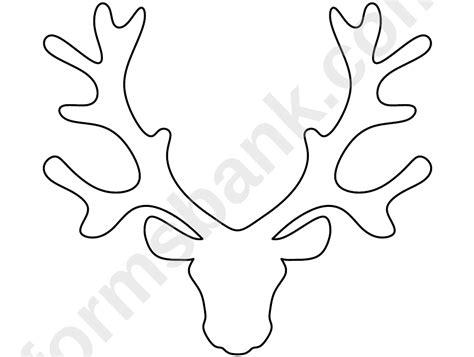 reindeer head pattern template printable