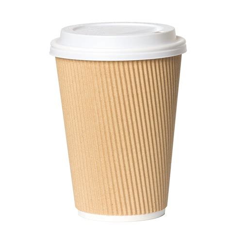 25pcs disposable coffee cups with lids, eusoar 12 oz disposable double walled hot cups with lids, water cups, perfect travel to go party paper cups for hot coffee, tea, chocolate drinks. 12oz Disposable Raised Coffee Cup Lid | John Black & Sons