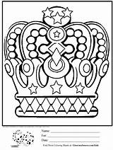 Crown Coloring King Pages Crowns Template Minion Queen Printable Drawing Sheets Royal David Princess Adult Adults Getdrawings Boo Getcolorings Overall sketch template