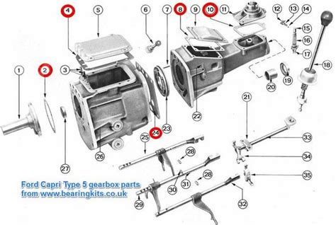 FORD GEARBOX PARTS - FORD TYPE 5 GEARBOX PARTS - 4sp 3.0 ...
