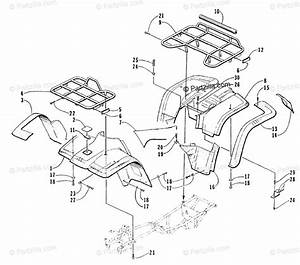 Arctic Cat Atv 1999 Oem Parts Diagram For Body Panel