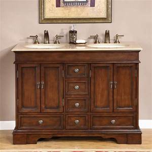 48, Inch, Small, Double, Sink, Vanity, In, Antique, Brown, With, Choice, Of, Top, Uvsr071548